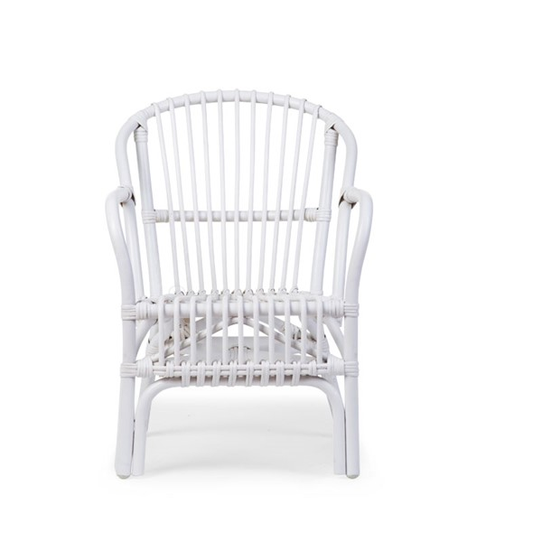 Rotan Fauteuil Wit.Rotan Stoel Wit